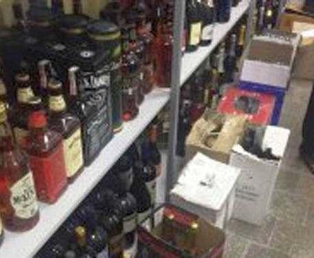 В Харькове изъяли больше тонны контрабандного алкоголя