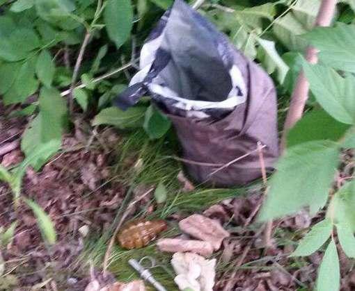 Под Харьковом возле блокпоста нашли сумку с гранатами