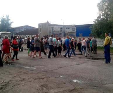 В Ольшанах люди вышли на акцию протеста
