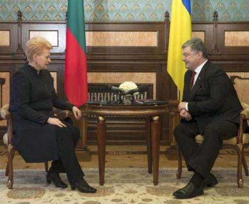 Порошенко и Грибаускайте проводят переговоры в Харькове