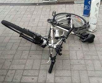 В Харькове поймали велосипедного вора