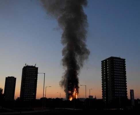 Страшный пожар в Лондоне: есть погибшие