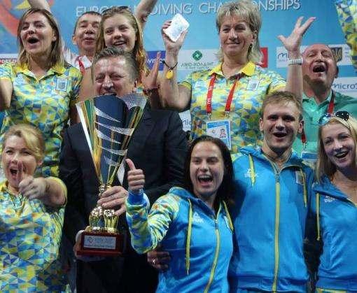 Сборная Украины впервые завоевала главный трофей на чемпионате Европы по прыжкам в воду