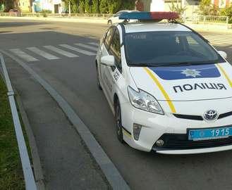 Служебный автомобиль полиции попал в ДТП