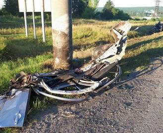ДТП в Харькове: на Флоринке погиб водитель Mitsubishi