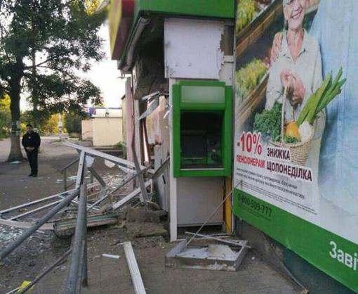 Под Харьковом подорвали банкомат