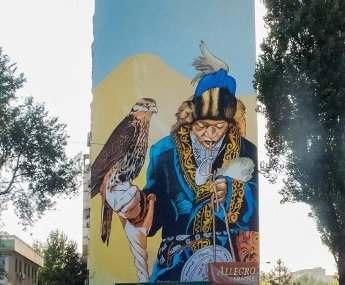 Что харьковчанин написал на стене дома в Алматы
