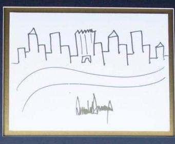 Рисунок Трампа выставили на аукцион