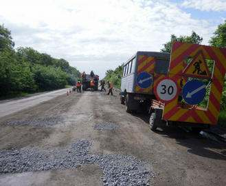Разрушенная дорога в сторону Луганска будет отремонтирована