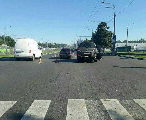 ДТП в Харькове: Neoplan против автомобилей