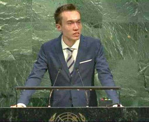 Студент юракадемии выступил в ООН