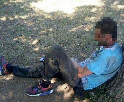 В Харькове грабитель напал на женщину с ребенком