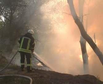 Пожар в Харькове гасили девять часов: видео-факт