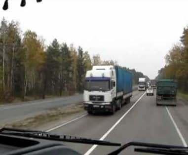 Дальнобойщики нарушают правила проезда по харьковским дорогам