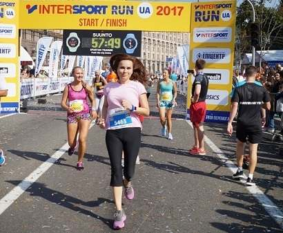 Анастасия Даугуле пробежала марафон, несмотря на травму