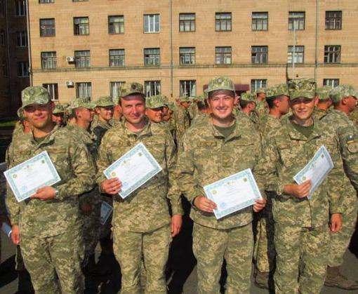В Харькове выпустили офицеров запаса