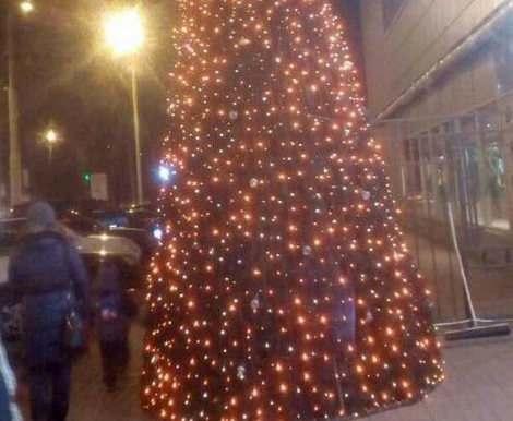 «Пятилетку – досрочно»: в Харькове уже замечены новогодние елки