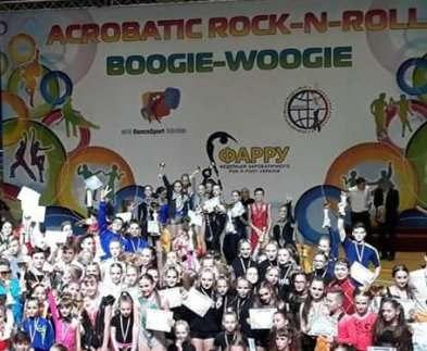 Харьковчане стали победителями этапа чемпионата Украины по акробатическому рок-н-роллу