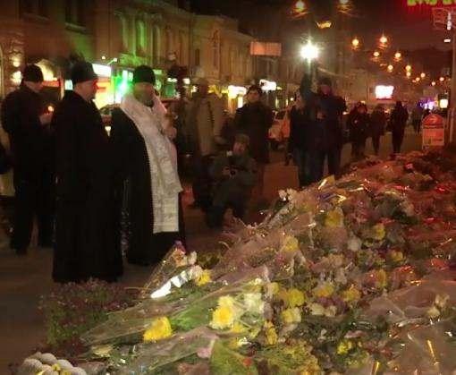 Трагедия на Сумской: на месте ДТП отслужили панихиду