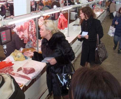 В Харькове на Конном рынке устроли листовочную акцию