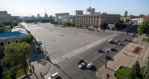 Площадь Свободы в Харькове остается местом баталий