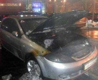 В Харькове сгорел Chevrolet