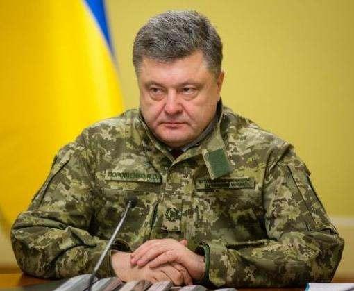 Петр Порошенко посетил Катериновку и Золотое на линии фронта