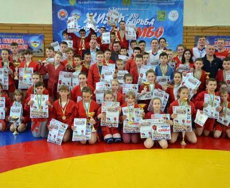 Харьковские самбисты завоевали золотые награды