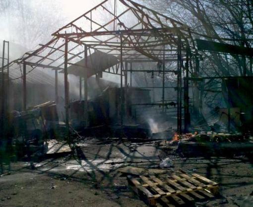 Пожар в Харькове: сгорел производственный ангар