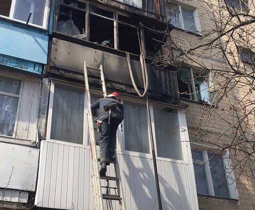 Пожар в Харькове: горел балкон пятиэтажки