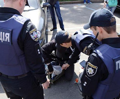 В Харькове покусали полицейского
