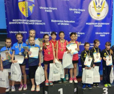 Юные харьковчанки победили на чемпионате Украины по бадминтону
