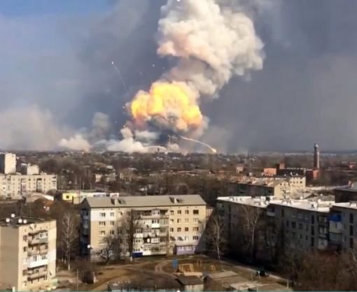 Жителям Балаклеи снова пришлось бежать от взрывов