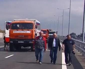 Владимир Путин приехал на открытие Крымского моста