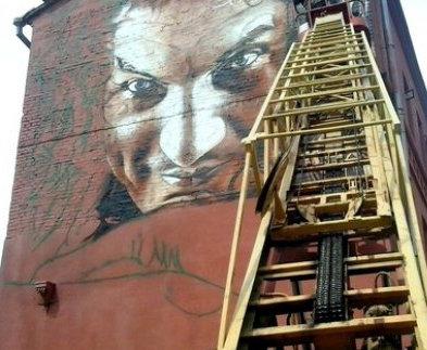 В Харькове вскоре появился граффити с портретом Кузьмы Скрябина