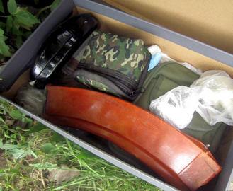 В Харькове возле гаража нашли коробку с гранатами