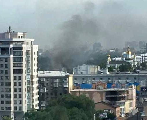 В центре Харькова возник пожар