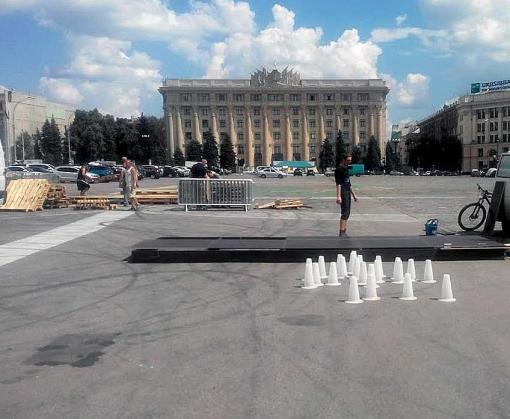 В Харькове рабочие вышли на площадь