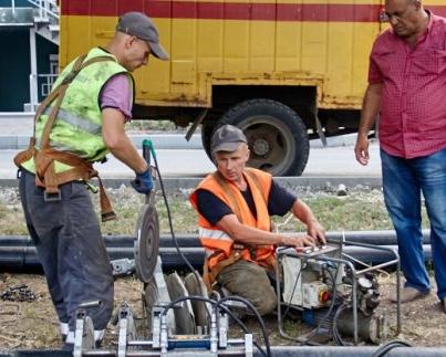 В центре Харькова меняют водопроводные сети
