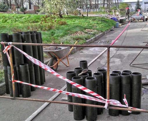 В Харькове в переулке Каплуновском меняют теплосеть