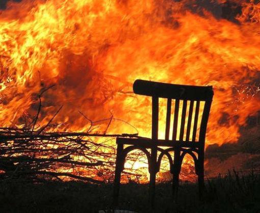 На пожаре под Харьковом погиб человек