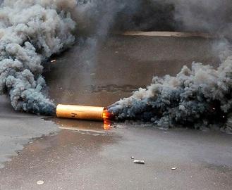 В Харькове на Сумской в помещение бара бросили дымовую шашку