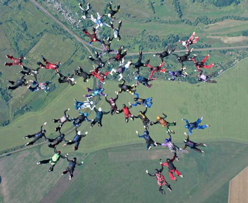 В Харькове установлен мировой рекорд по парашютному спорту среди женщин
