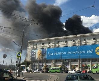 В центре Харькова начался крупный пожар: видео