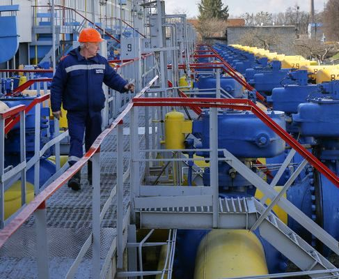 Запасы газа в хранилищах Украины увеличились на 80%