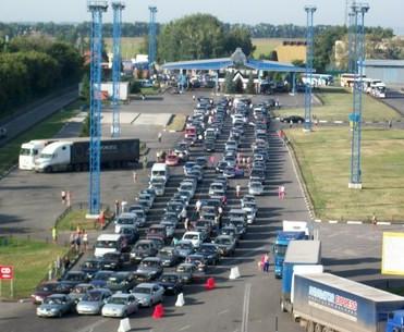 Российские пограничники устроили затор на украинской «Гоптовке»