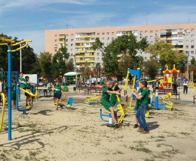 В Харькове открыли новую детскую площадку