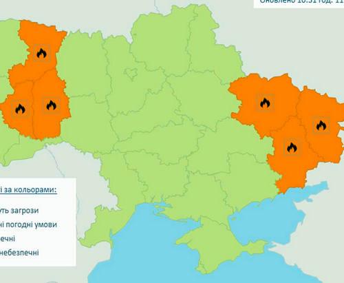 В Харьковской области сохраняется чрезвычайная пожароопасность