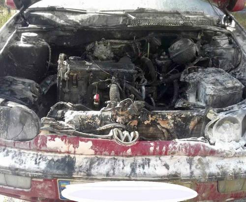 В Харькове на ходу загорелась машина