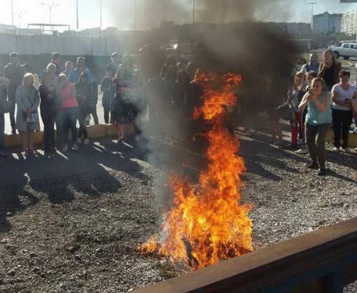 Пожар в харьковском ТРЦ был ненастоящий